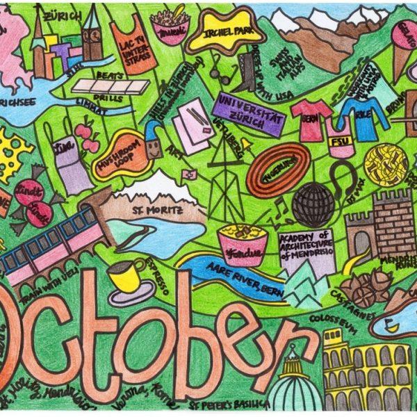 Visual Representation of October