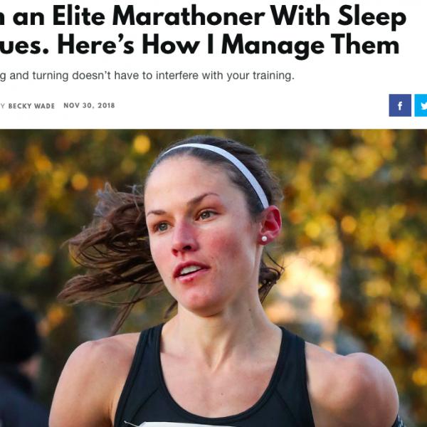 I'm an Elite Marathoner With Sleep Issues.