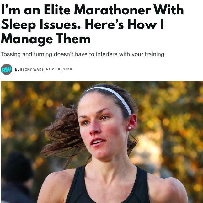 I'm an Elite Marathoner With Sleep Issues.
