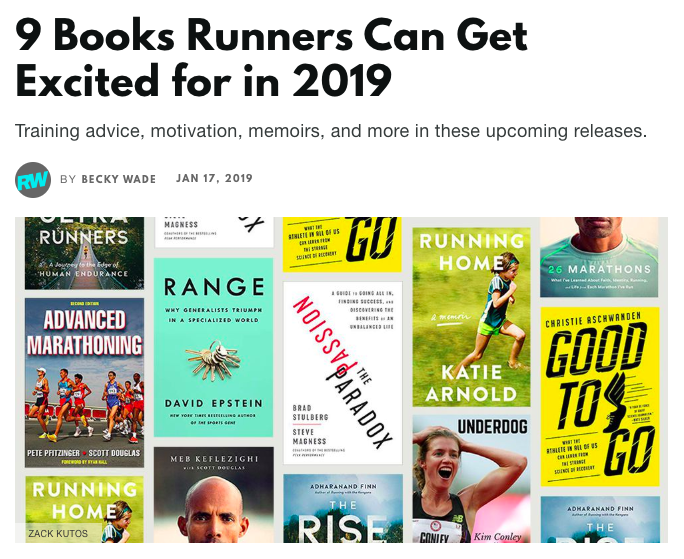 9 Books Runners Can Get Excited for in 2019