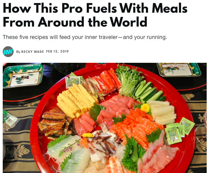 How This Pro Fuels With Meals From Around the World