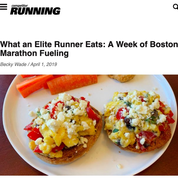 What I Ate During a Week of Boston Training